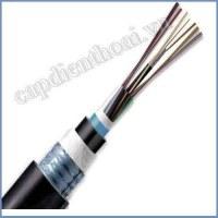 Cáp quang cống kim loại 4 sợi (4 core, 4FO, 4 lõi). Cáp quang chôn ngầm có kim loại 4 fo, 4 core, 4 sợi, 4 lõi