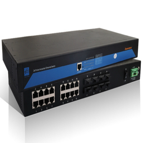 Switch công nghiệp 16 cổng Ethernet + 8 cổng quang Multi-mode