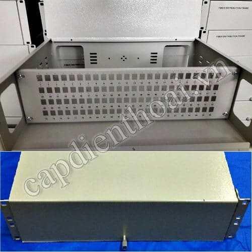 """Hộp phối quang ODF 96Fo lắp tủ rack 19"""" trong nhà"""