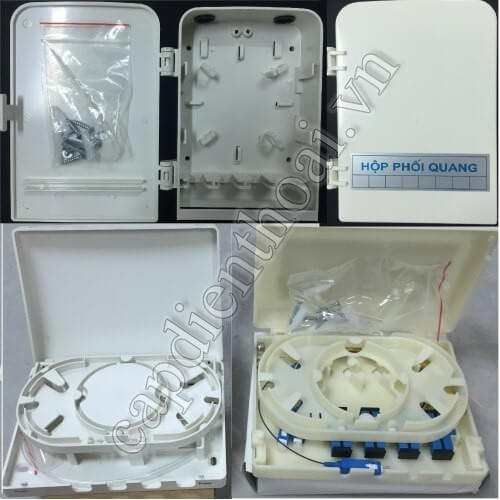 Hộp phối quang ODF 4Fo, 4 sợi, 4 core, 4 fo, 4 cổng, 4 port trong nhà